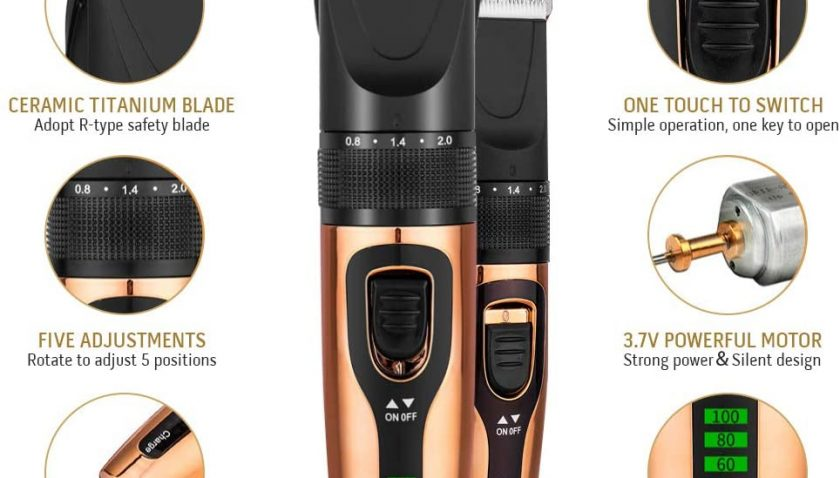 50% Discount for Kioki Hair Clippers for men,Waterproof Cordless Rechargeable Hair Trimmer Set Hair Cutting Kit with 1200mAh Battery + Ceramic Blade + LCD Display + Quiet design + 4 Guide Comb,for Kids, Family
