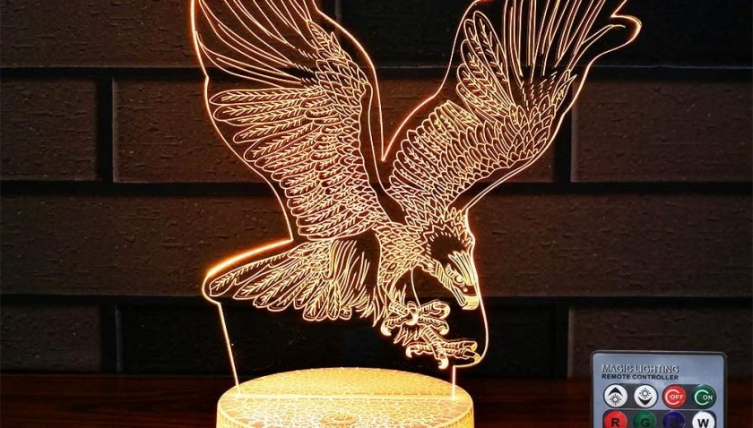 51% Discount for HLLKYYLF Kids Eagle Gifts Led Eagle Lamp 16 Color Changing Kids Lamp with Touch and Remote Control Eagle Toys Light as Gift Idea for Home Decor or Birthday Gifts for Baby
