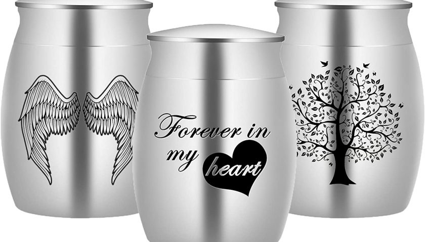 50% Discount for Bivei Small keepsake Urns for Human/Pet Ashes Set of 3 Mini Ashes Holder Matte Waterproof Memorial Cremation Funeral Decorative (Silver-Set of 3)