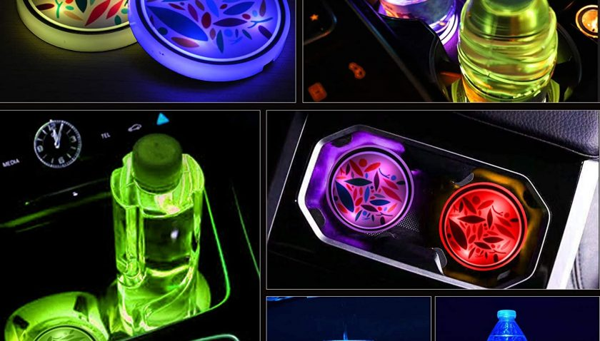 50% Discount for Safego LED Car Cup Holder Lights Up Coasters