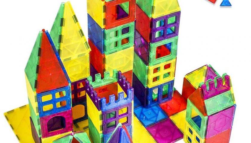 50% Discount for idoot Magnetic Building Blocks 102PCS Magnet Building Tiles Clear STEM