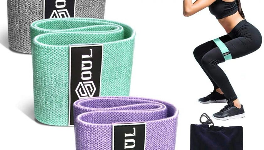50% Discount for RexSoul Resistance Bands for Legs and Butt Fabric Workout Bands Women/Men Stretch Exercise Loops Thick Wide Non-Slip Gym Bootie Band 3 Set for Squat Glute Hip Training