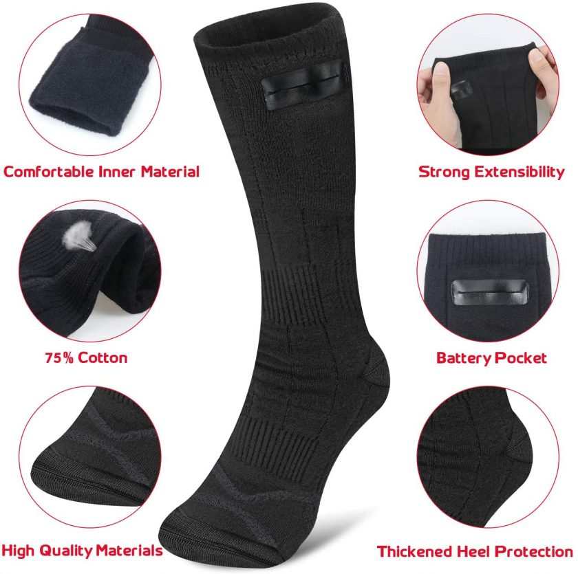 50% off rechargeable washable heated socks