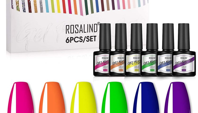 50% Discount for Gel Polish 6 Colors Bright Orange Hot Pink Blue Yellow Green Purple