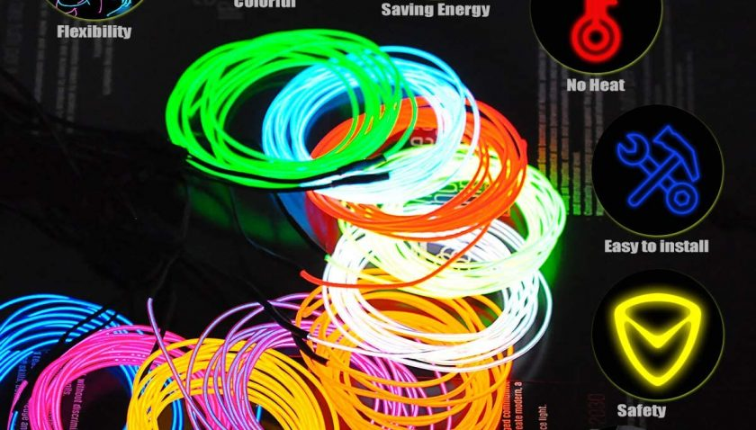 50% Discount for Update Lychee® 15ft 3m Neon Glowing Strobing Electroluminescent Light