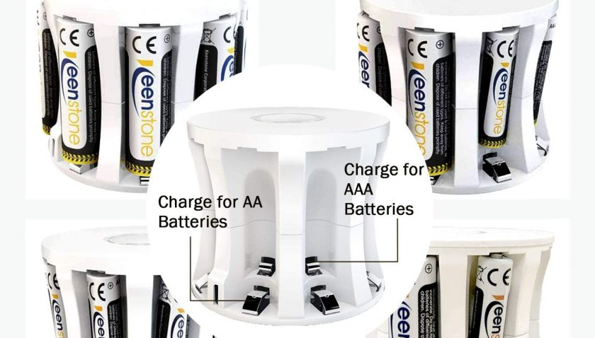 50% Discount for AAA Battery and Charger, Rechargeable AAA Batteries 8 Pack 1100mAh Ni-MH High Capacity Batteries