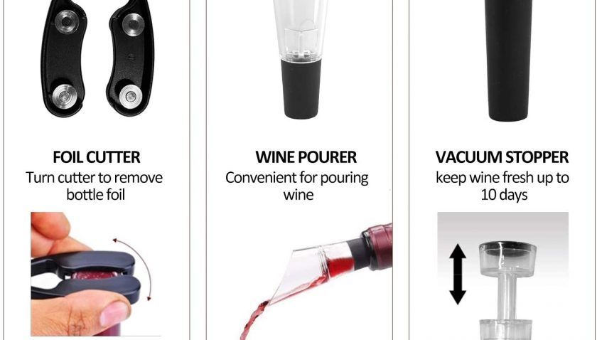30% Discount for Svipear Air Pressure Wine Bottle Opener, Corkscrew, Easy Remover Tool Wine Bottle Opener, Cork Out Tool