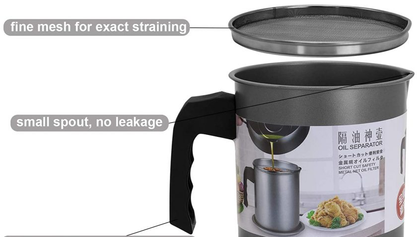 50% Discount for Jansme Bacon Grease Container, Can For Kitchen With Strainer Stainless Steel Container