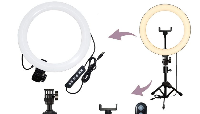 "51% Discount for 10.2"" RGB Ring Light with Mini Save-Space Tripod Stand"