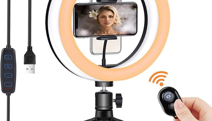 """50% Discount for 10"""" Selfie Ring Light with Tripod Stand,"""