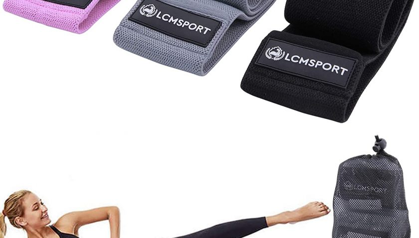 50% off LCMSPORT 3 Fabric Resistance Bands for Legs and Butt, Loop Exercise Bands