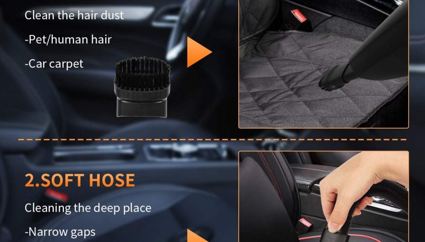 50% Discount for FRUITEAM Car Vacuum 5000PA Strong Suction DC 12V Wet Dry Handheld Vacuum Portable Pet Hair Cleaner