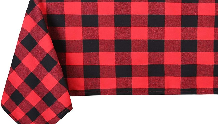 50% Discount for Souactimuy Flannel Tablecloth Rectangular - 60 x 84 Inch - Buffalo Check Washable 100% Cotton - Great for Buffet Table, Parties, Holiday Dinner