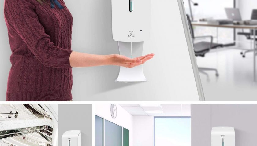 51% Discount for SVAVO Soap Dispenser Wall Mount 33.8oz/1000ml, Automatic Soap Dispenser Touchless with Anti-Spill Tray Wall Mounted, Auto Sensor Liquid Soap Pump for Hand Sanitizer