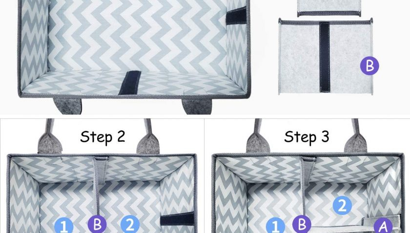 51% Discount for Baby Diaper Caddy Organizer - Entyle Nursery Storage Bin and Portable Car Organizer Bag for Changing Table and Car- Great for Storing Diapers, Bottles, Baby Wipes, Baby's Toys (Navy)