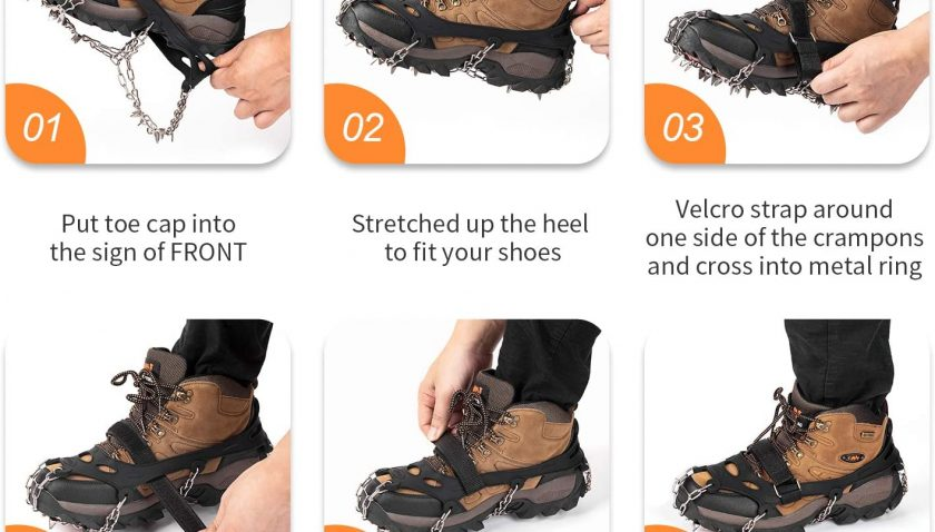 50% Discount for SHARKMOUTH Crampons Ice Traction Cleats
