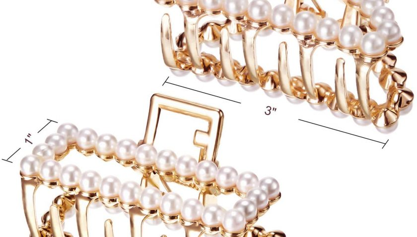 50% Discount for JTYR Pearls Hair Claw Clips for Women and Girls 6 PCS Fashion Silver Artificial Pearl Barrettes with Flower and Butterfly Styles for Party Birthday