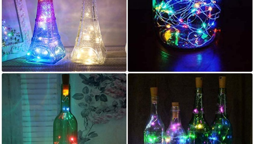 50% Discount for 6 Pack 6.56 ft Cork Lights 5 Mode IP65 Waterproof Wine Bottle Lights Battery Operate Led Cork Shape Silver Fairy Lights for Liquor Bottles Crafts