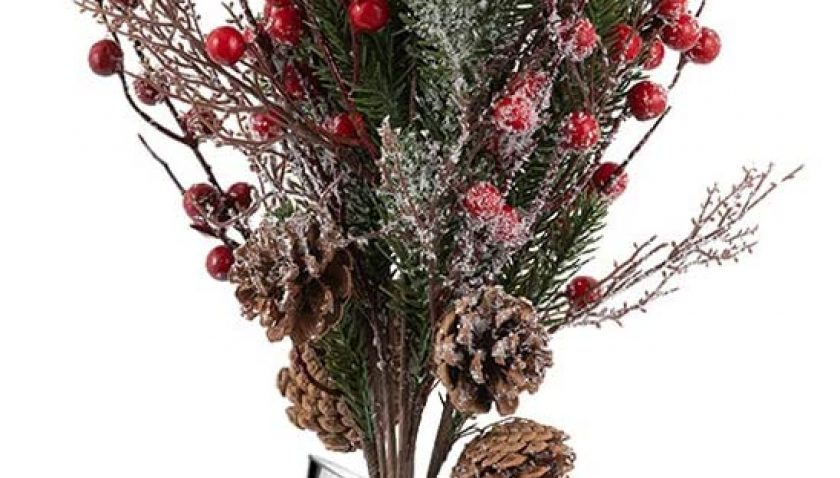 65% Discount for 5Pcs Christmas Berry Stems Holly Christmas Berries Branches Winter Christmas Red Berries Holiday Floral Sprays for DIY Christmas Garlands Wreaths Flower Arrangements Rustic Home Décor