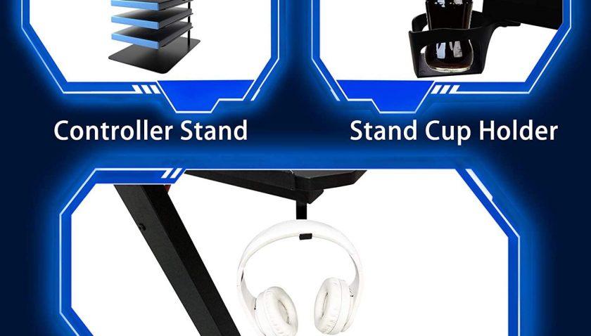 "50% Discount for Computer Desk, Arespark 47"" Gaming Desk Office Desk with 7 Mode RGB LED Light"