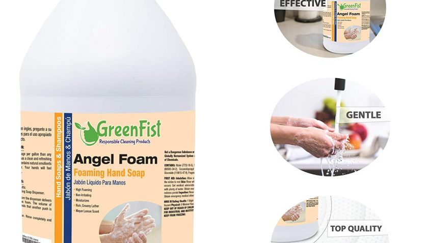 65% Discount for GreenFist Foaming Hand Soap Refills [ Foam Refill ] Gentle-Hand Wash Lemon Scent , 128 ounce (1 Gallon)