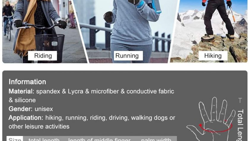 70% Discount for Touch Screen Gloves Anti-slip Running Cycling Gloves Sports Gloves Winter Gloves for Men Women