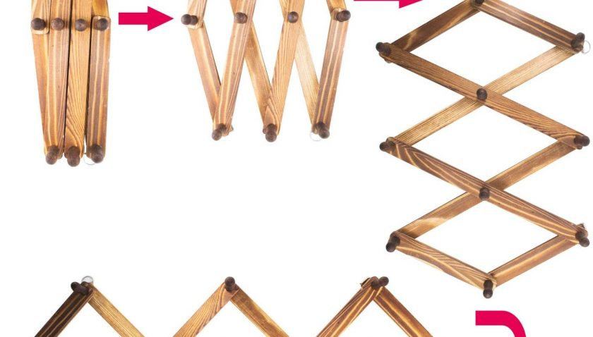50% Discount for 10 Peg Wooden Expandable Coat Hanger