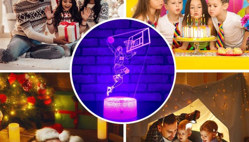 50% Discount for SETIFUNI Basketball Gifts for Boys Basketball Lights Gifts with Remote & Smart Touch
