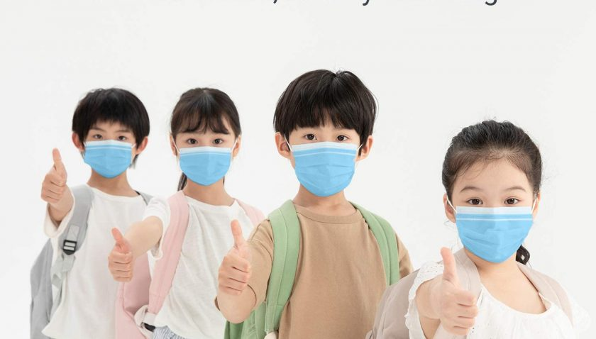 50% Discount for 50Pcs Kids Disposable Face Mask