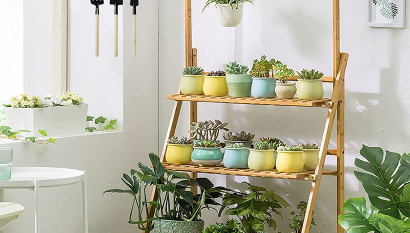80% Discount for 3-Tier Bamboo Hanging Plant Stand Planter Shelves Flower Pot Organizer Storage Rack