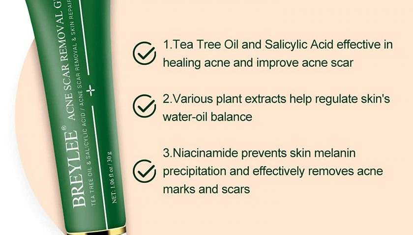 60% Discount for Acne Scar Treatment, Breylee Acne Scar Removal Gel Acne Scar Therapy Acne Spot Treatment With Tea Tree Oil Salicylic Acid Pimple Scar Healing Gel