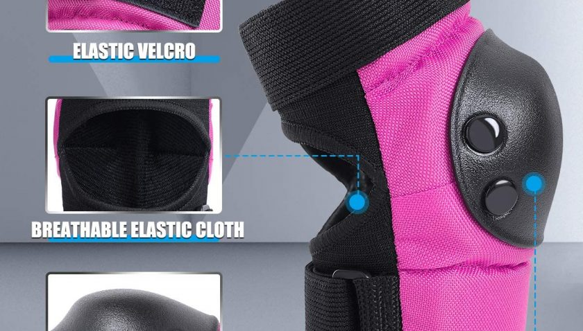 70% Discount for Knee and Elbow Pads for Kids 5-8 Wrist Guards Youth Adjustable Sports Protective Gear Set for Rollerblading Skateboarding Playwheels Trolls Kids Roller Skates Bike