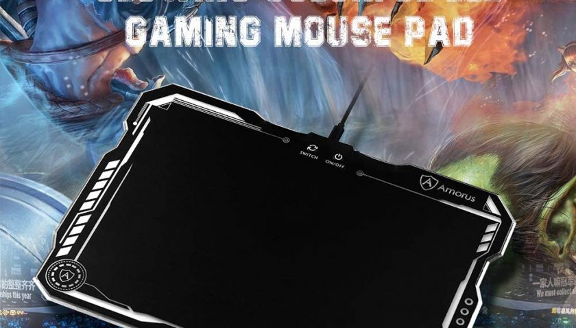 50% Discount for LED Lighting Hard Gaming Mouse Pad