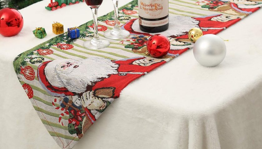 50% Discount for Tosewever Christmas Table Runner for Dining Holiday Birthday Party Table Home Decoration