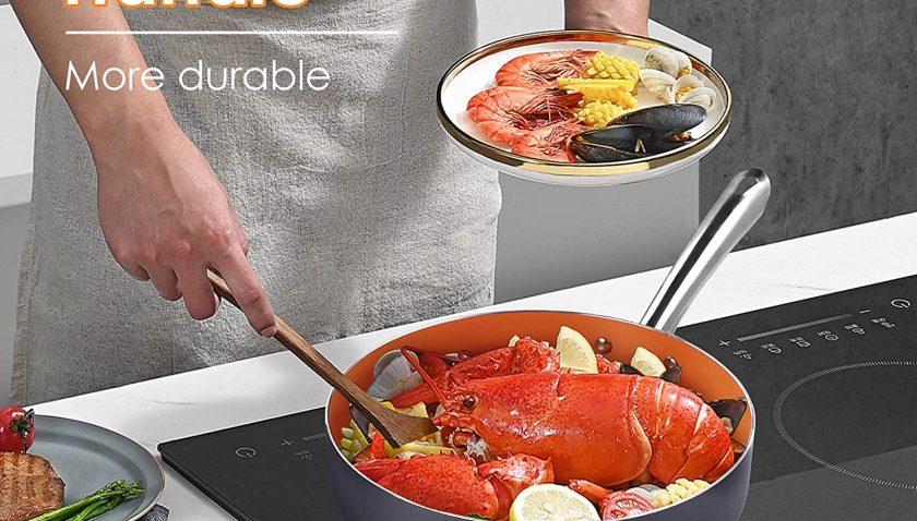 50% Discount for KUTIME Cookware Set 14pcs Non-Sick Pots and Pans Set
