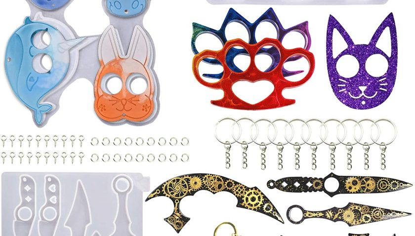 50% Discount for Resin Keychain Mold, 3Pcs Animal Cat Pendant Keychains Molds