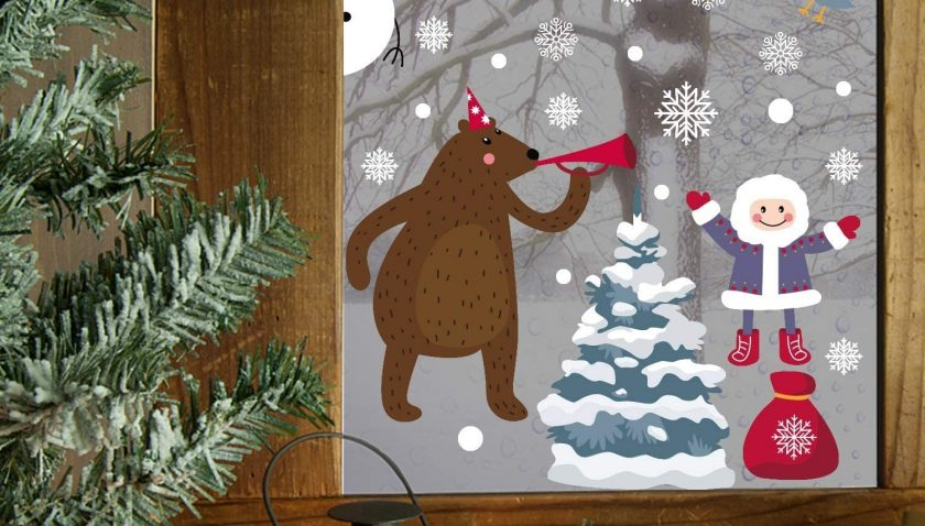 50% Discount for LOKIPA 300PCS Christmas Window Clings Stickers