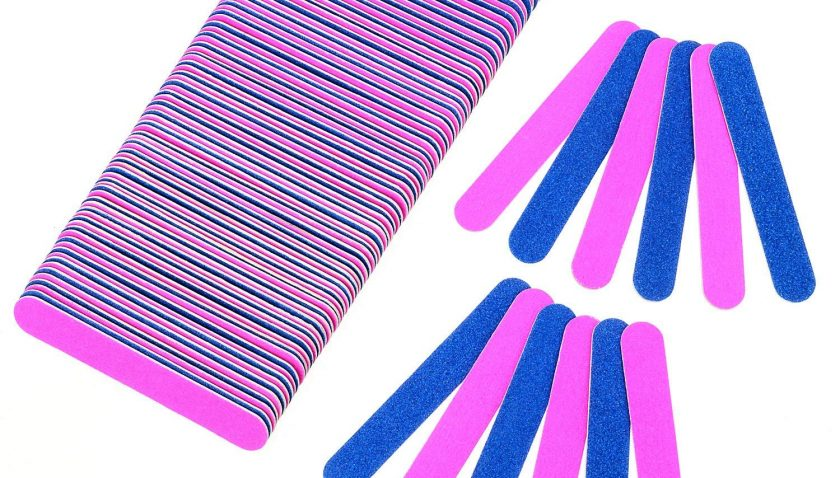 50% Discount for NEW 100 PCS Disposable Professional Nail File 100/180 Grit Nail Buffer