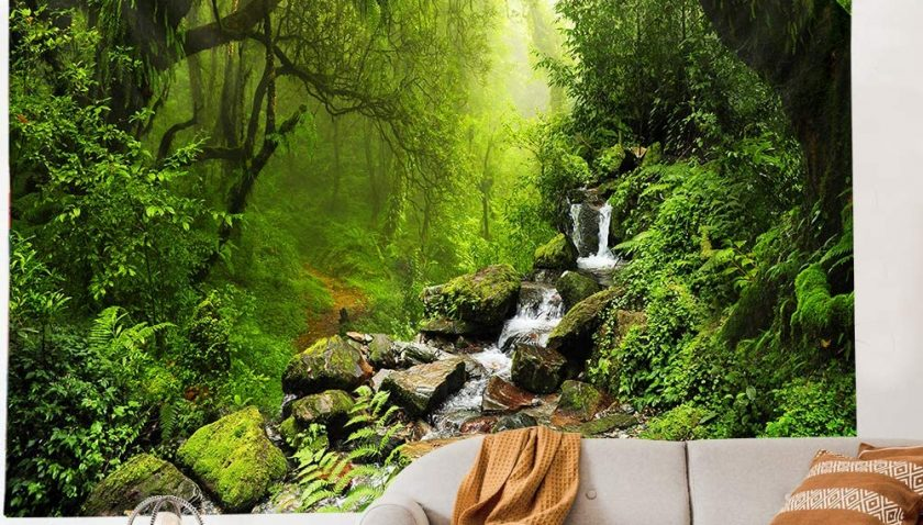 50% Discount for Llamazing Forest Tapestry Home Decor Landscape Tapestry