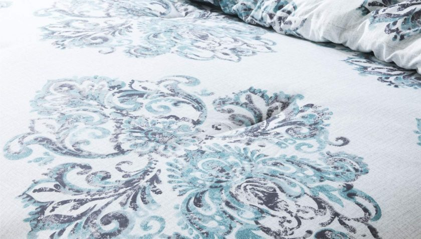 50% Discount for Bedsure Damask Printed Comforter Set Twin 2 Pieces