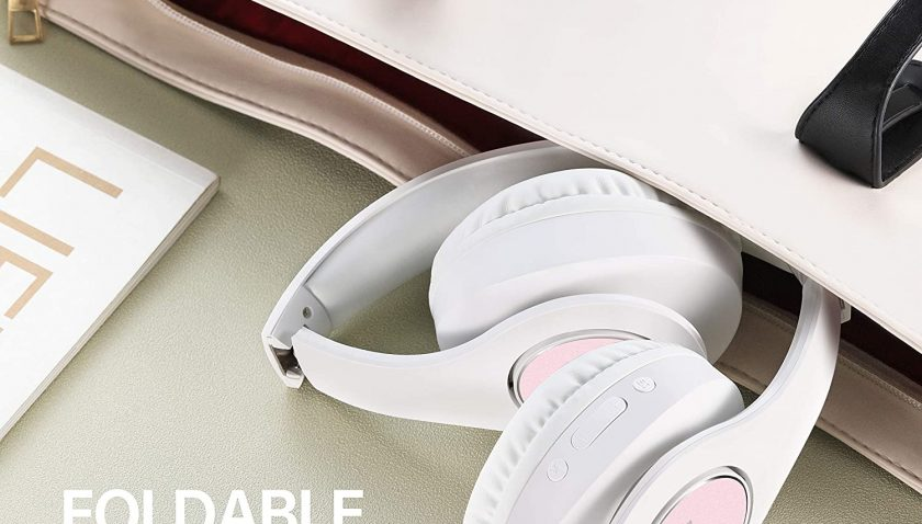 50% Discount for Bluetooth Headphones Over Ear, pollini Wireless Headset V5.0 with Deep Bass