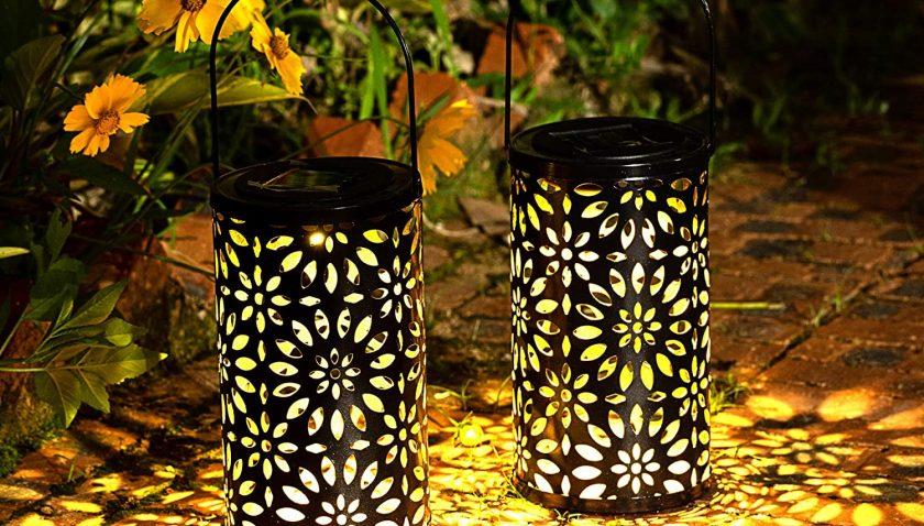 54% off HUAXU Solar Lantern Lights Outdoor