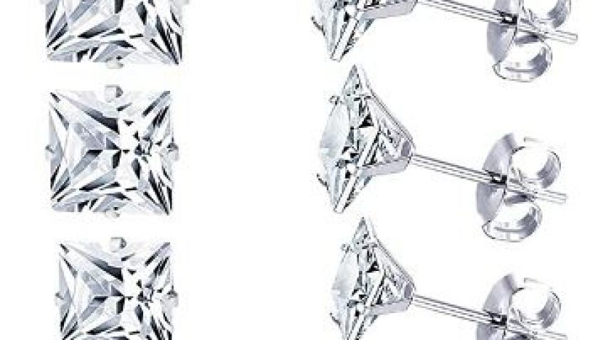 61% Discount for LUXU kisskids 6 Pairs Stainless Steel Stud Earrings