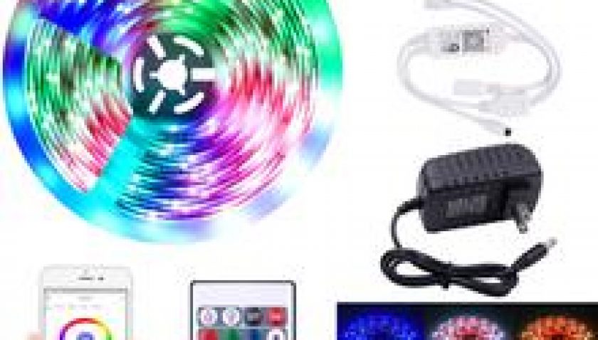 12V-5050RGB Wifi Remote Control 5 Meters 150 Lights (24W) 24 Keys