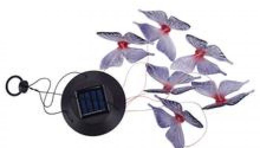 10% Discount for 2V 40maH Solar Intelligent Light Control Design and Color Shell Butterfly Wind Chime Corridor Decoration Pendant 6a