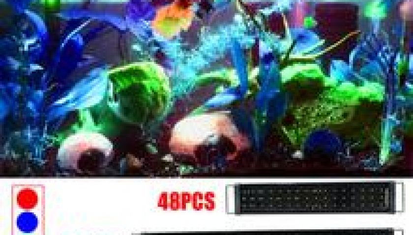 10% Discount for 15W 48LED Full Spectrum Sea Coral Lamp 23.6 inch Black