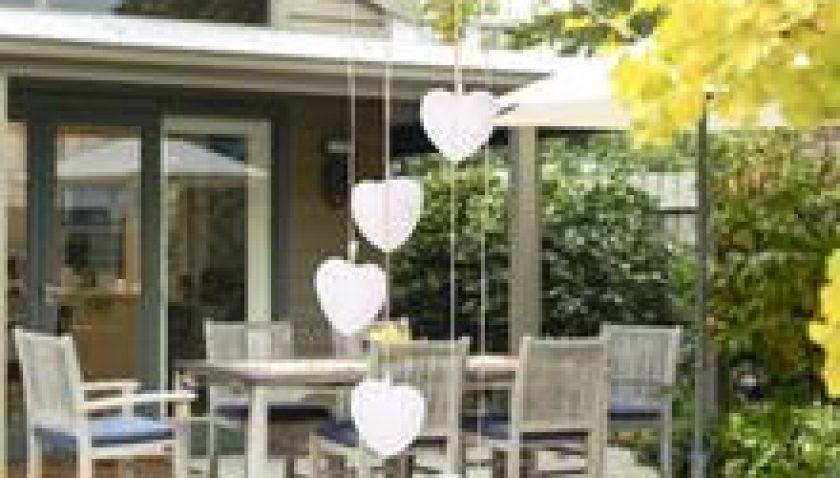 10% Discount for 2V 40maH Solar Intelligent Light Control Love Style Wind Chime Corridor Decoration Pendant