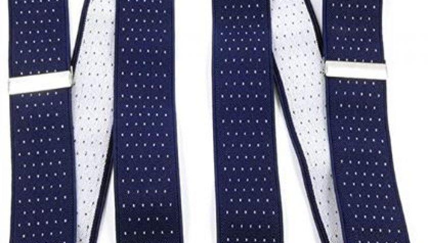 50% Discount for QCWQMYL Not Cross Belt Clip Suspenders for Men Elastic Adjustable Tuxedo Braces