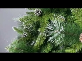 Pre-lit Artificial Christmas 4-Piece Set,Garland, Wreath and Set of 2 Entrance Trees