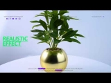Artificial Plant in Gold Look Pot Home Office Kitchen Table Decoration